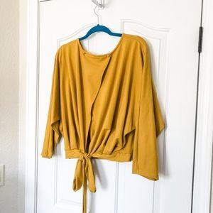 Zaful mustard/gold yellow blouse